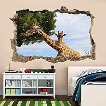 Giraffe Wildlife Wall Art Sticker Mural Wallpaper