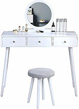 Girl Bedroom Dressing Table and Stool Set White