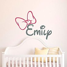 Girl Name Wall Decal Initial Personalized Custom