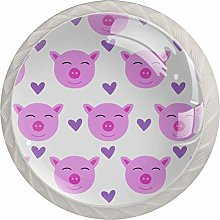 Girl Pig 4PCS Drawer Knobs,Cabinet Knobs,Drawer