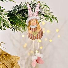 Girl Plush Christmas Pendant, Christmas Tree