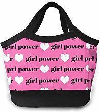 Girls Fabric Girls Text Word Girl Power Black