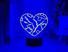 Girls Night Light Heart Broken Colorful USB
