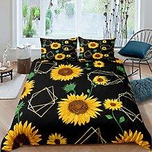 Girls Sunflower Bedding Set for Kids Daughter