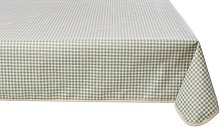 Girones Vintage Gingham Blue Oilcloth Tablecloth