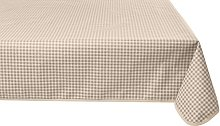 Girones Vintage Gingham Grey Oilcloth Tablecloth