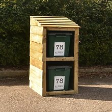 Gise Wooden Double Bin Store Sol 72 Outdoor