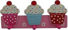 Gisela Graham Cupcake Hooks Peg Rail Girls Bedroom
