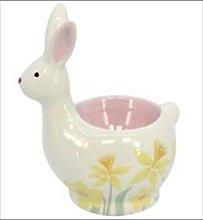 Gisela Graham Easter Bunny Rabbit Ceramic Egg Cup