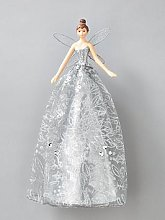Gisela Graham Silver Fairy Christmas Tree Topper
