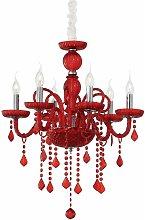 GIUDECCA red crystal pendant light 6 bulbs