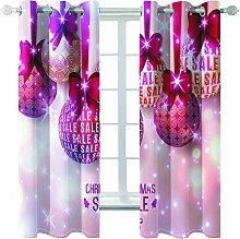Giunuak 3D Eyelet Curtain Christmas Bedroom Living