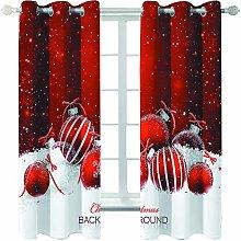 Giunuak 3D Eyelet Curtain Christmas Livingroom