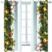 Giunuak 3D Eyelet Curtain Christmas Modern Room