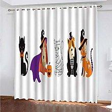 Giunuak 3D Eyelet Curtain Halloween Animals Super