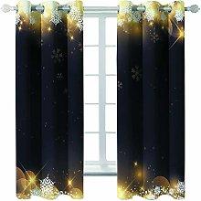 Giunuak 3D Eyelet Curtain Snowflake Living Room