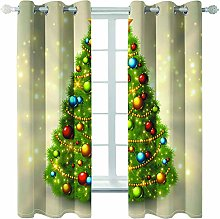 Giunuak Bedroom 3D Blackout Curtains Christmas