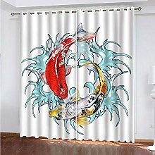 Giunuak Bedroom 3D Blackout Curtains Goldfish Kids