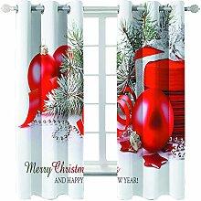 Giunuak Blackout Curtains 3D Christmas Curtain