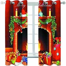 Giunuak Blackout Curtains 3D Printing Christmas