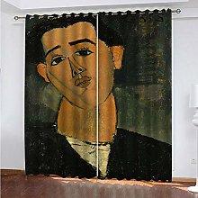 Giunuak Blackout Curtains Eyelet 3D Abstract Boy