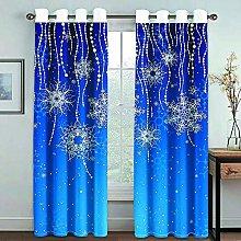 Giunuak Blackout Curtains Eyelet 3D Snowflake Kids