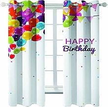Giunuak Blackout Curtains Happy Birthday Kids