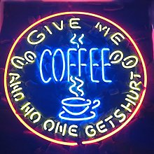 GIVE ME COFFEE AND NO ONE GET HURT Real Glass Neon