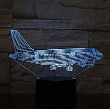 giyiohok 3D Airplane Airplane Airbus Night Light 7