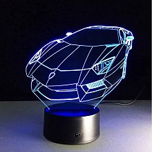 giyiohok 3D Color Changing Night Light Sports car