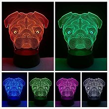 giyiohok 3D Cute Dog Shape led lamp Night Light