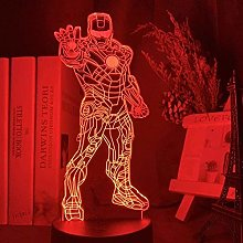 giyiohok 3D Desk Lamp Superhero Thor Quake Night