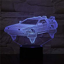 giyiohok 3D Illusion Lamp Led Night Light Back to
