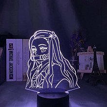 giyiohok 3D Illusion Lamp Led Night Light Kimetsu