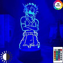 giyiohok 3D Illusion Lamp Led Night Light My Hero