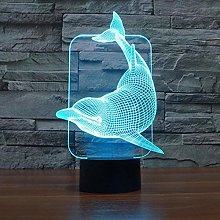 giyiohok 3D Illusion Lamp LED Night Light Optical