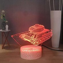 giyiohok 3D Illusion Lamp Led Night Light Tank