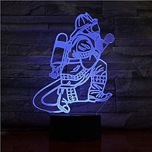 giyiohok 3D Illusion LED Night Light Novelty 3D