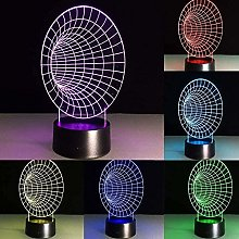 giyiohok 3D Illusion Visual Night Light 7 Colors
