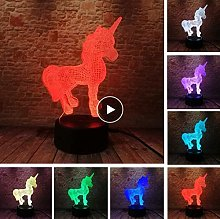 giyiohok 3D LED Art Night Light USB Desk Lamp Home