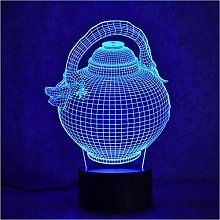 giyiohok 3D LED Night Light Colorful Changeable