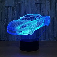 giyiohok 3D Night Light LED Touch 3D Illusion Lamp