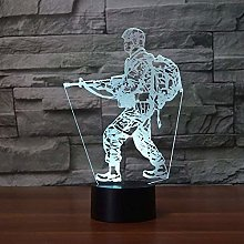 giyiohok 3D Night Lights led Desk 7 Color Changing