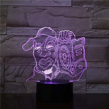 giyiohok 3D Touch Colorful Visual Figure LED