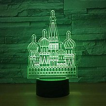giyiohok 3D USB Castle Modeling Night Light LED