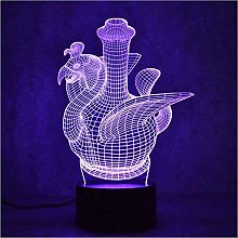 giyiohok 3D USB Colorful Night Light LED Sculpture