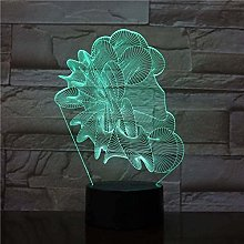 giyiohok 3D Visual Night Light New Abstract LED