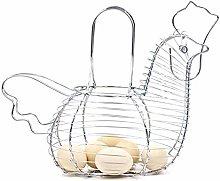 Gizayen Innovative Hen Shaped Egg Holder Metal