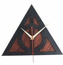GJ Clocks Modern Geometry Graphic Wall Clock Wood