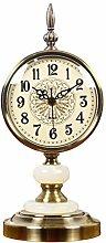 GJF Retro Vintage Silent Mantel Clock, Battery
